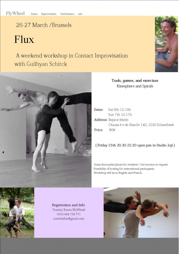 Flux/ Weekend workshop in Contact Improvisation with Guilhyan Schmirck