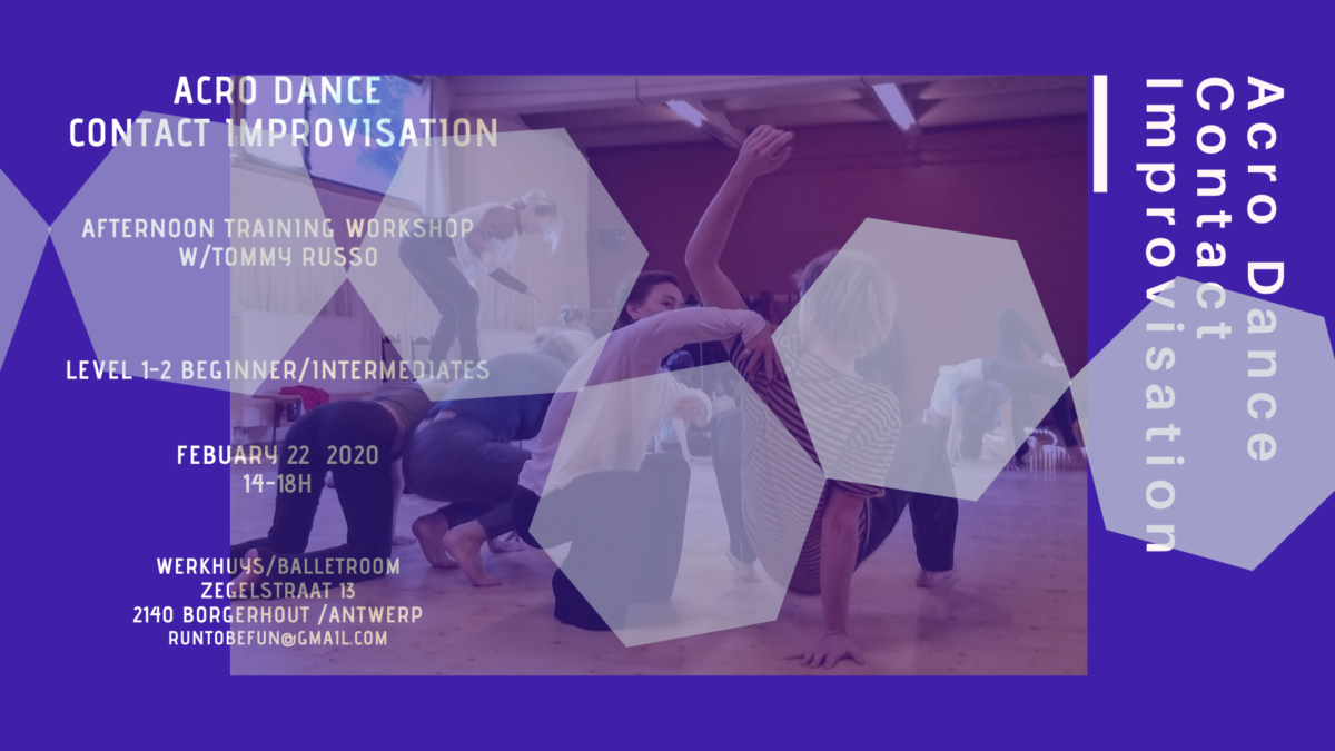 Acro Dance and Contact Improvisation Antwerp w/Tommy Russo